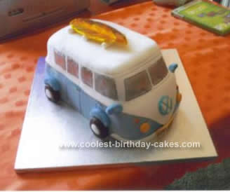 Homemade Camper Van Birthday Cake