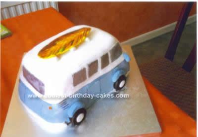 Homemade  Camper Van Cake