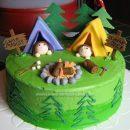 Homemade Camping Birthday Cake