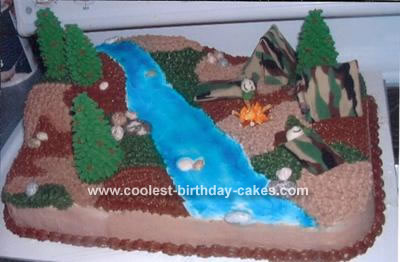 Army Campout Cake