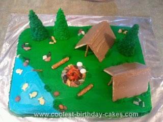 Homemade Campsite Cake