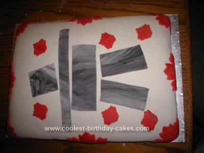 Homemade Canada Cake Design