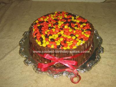 Homemade Candy Barrel Cake