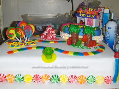 Wondrous Coolest Candy Land Birthday Cake Birthday Cards Printable Opercafe Filternl