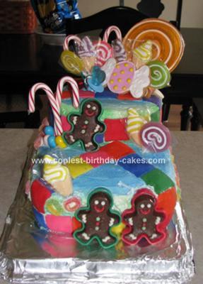Homemade Candy Land Birthday Cake