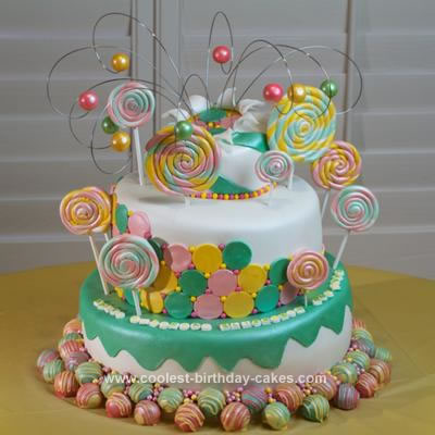 Homemade Candy Party Birthday Cake