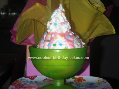 Homemade Candy Sundae Birthday Cake