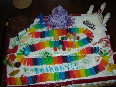 Homemade Candyland Birthday cake