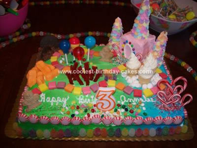 Fun Homemade Candyland Cake For A 3rd Birthday