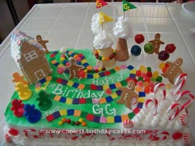 Homemade Candyland Cake Design