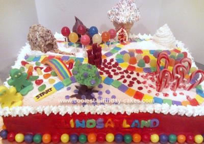 Homemade Candyland Game Cake