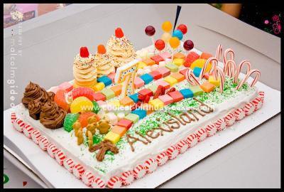 Homemade Candyland Theme Cake