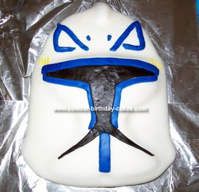 Homemade Captain Rex Mask Cake