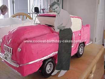 Homemade Elvis Cadillac Car Birthday Cake