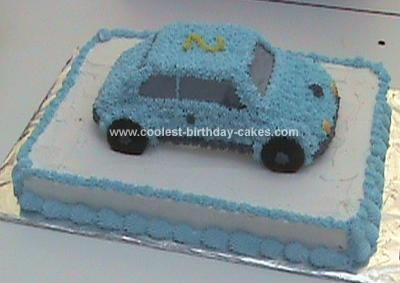 Homemade Car Birthday Cake