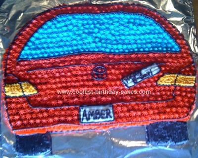 Homemade Car Birthday Cake
