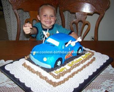 Homemade Fun Car Birthday Cake