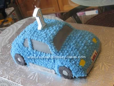 Homemade Car Birthday Cake Design