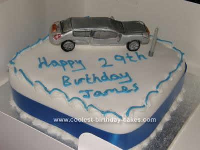 Homemade Car Cake