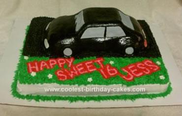 Homemade Car Cake
