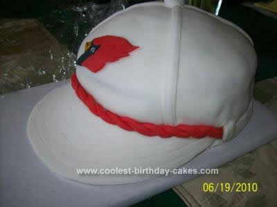 Homemade Cardinal Fan Hat Cake