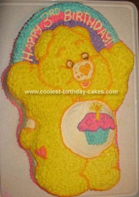 Homemade Care Bear Birthday Cake