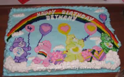 Stupendous Coolest Care Bear Birthday Cake Funny Birthday Cards Online Alyptdamsfinfo