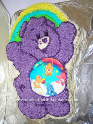 Homemade  Care Bear Birthday Cake Idea