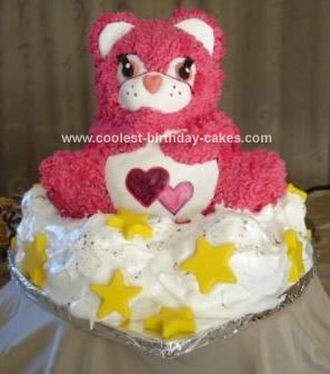 Homemade Care Bear Cake