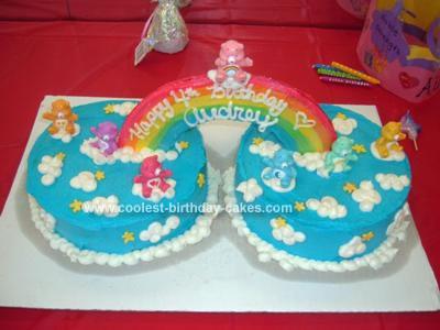 Homemade Care Bear Cake