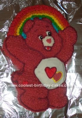 Coolest Care Bears Cake With Wilton Care Bear Cake Pan