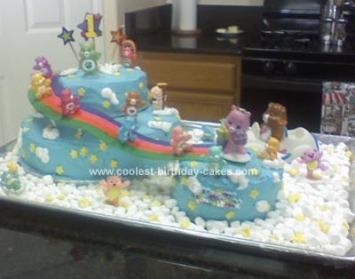 Homemade Care Bears Cake