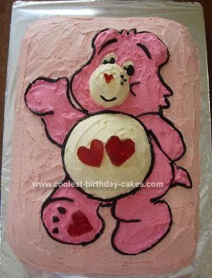 Homemade  Carebear Cake