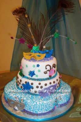 Homemade Carnival Cake Design