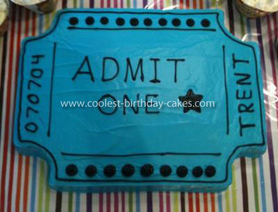 Coolest  Carnival Ticket Cake