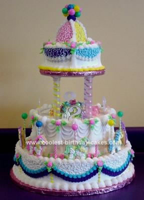 Peachy Coolest Homemade Carousels Cakes Funny Birthday Cards Online Inifodamsfinfo