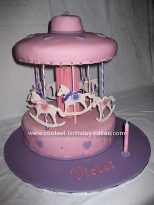 Homemade Carousel Cake