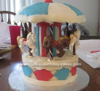 Homemade Carousel Cake Design