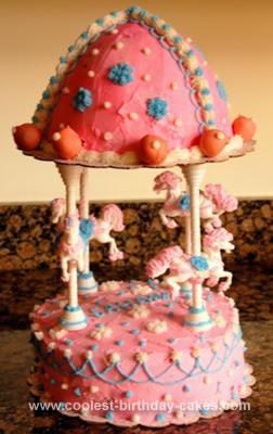 Homemade Carousel Cake for a Princess