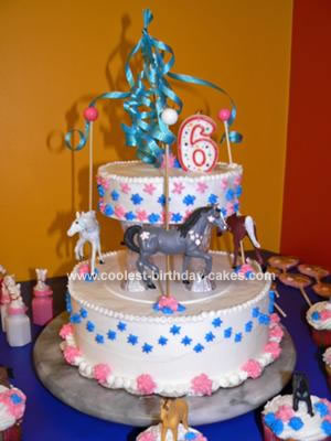 Homemade Carousel Child Birthday Cake
