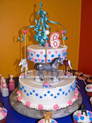 Homemade Carousel Child Birthday Cake