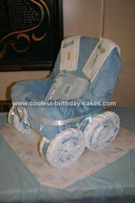 Homemade Carriage Diaper Cake