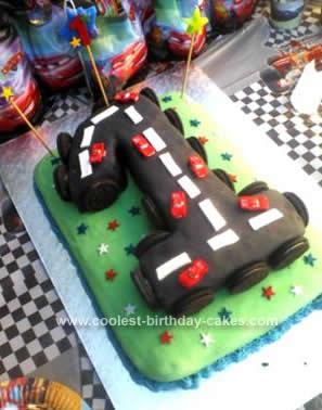 Homemade Cars 1st Birthday Cake