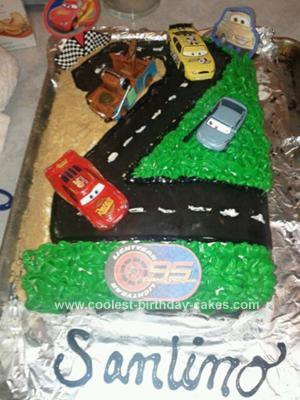 Homemade Cars  2nd Birthday Cake