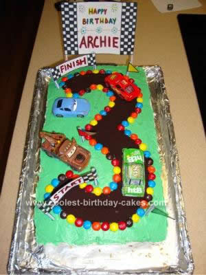 Coolest Cars 3rd Birthday Cake