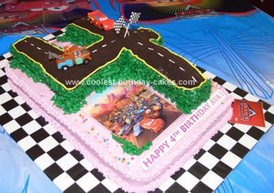 Homemade Cars 4th Birthday Cake
