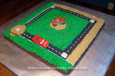 Homemade Cars Baseball Cake