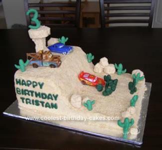 Homemade Cars Birthday Cake
