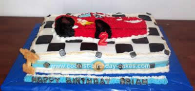 Homemade Cars Birthday Cake Design