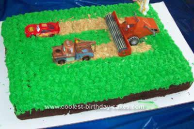 Homemade Cars Birthday Cake Design